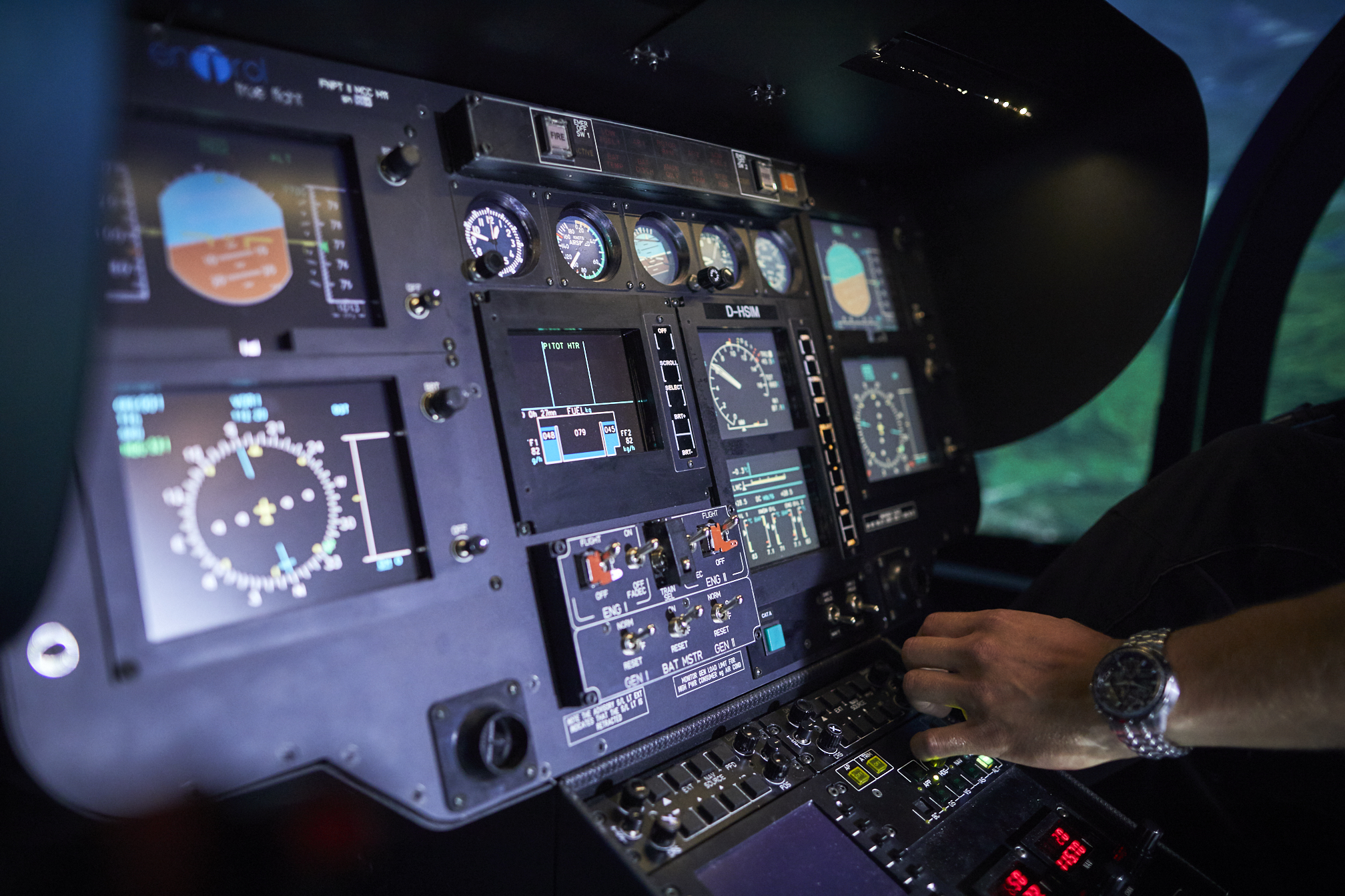 Simulator training - Heli Transair
